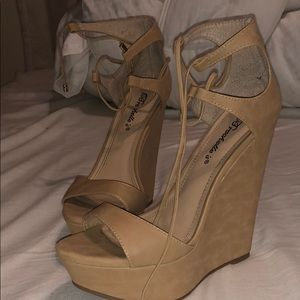 Shoes - Nude wedges size 7